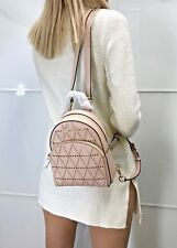 MICHAEL KORS ABBEY EXTRA SMALL BACKPACK MINI CROSSBODY SAFFIANO LEATHER BALLET