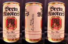 BREW MASTERS LAGER BEER - 10OZ PULL TAB CAN PUERTO RICO - SUPER CLEAN