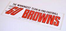 CLEVELAND BROWNS NFL Bumper Sticker ORIGINAL/RARE Early 70s??
