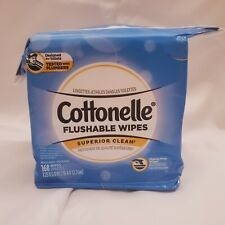 Cottonelle Flushable Wipes 1 Pack of 168 Wipes Superior Clean Tested W Plumbers