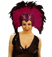 PINK Moulin Rouge CABARET martedì grasso Showgirl Burlesque HEADDRESS FANCY DRESS