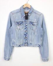 Hollister Womens Light Blue Distressed Style Petite Cotton Jacket BNWT - XL
