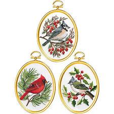 Embroidery Kit ~ Janlynn Set of 3 Winter Birds w/Frames #004-0861