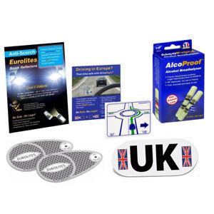 Eurolites Headlamp Beam Adaptors Head Light Alcoproof Twin Pack UK Drive Right