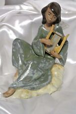 LLADRO GRES ANGEL #2194 HEAVENLY STRINGS FIGURINE ~ w/ Box From Collection *RARE