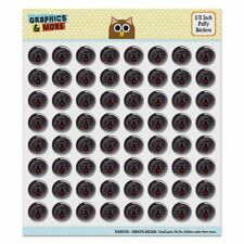 Black Widow Spider on Web Puffy Bubble Dome Scrapbooking Crafting Sticker Set