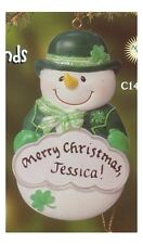 PERSONALIZED IRISH SNOWMAN ORNAMENT MAGNET BY JEANE'S THINGS