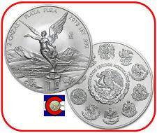 2013 Mexico Libertad 2 oz BU Silver Coin in plastic airtite