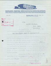 MÜNCHEN, Brief 1930, Fabrik elektromechanischer Apparate FELMA GmbH