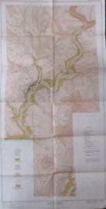 Geology Folded Map Galena Sheet Zinc Lead District Illinois Black Jack Mine 1914