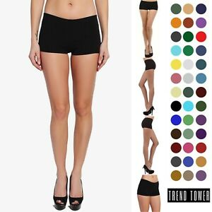 💖LADIES BASIC STRETCHY COMFY SOLIDWORKOUT YOGA ACTIVE SEXYSEAMLESS BOY SHORTS