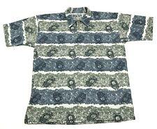 Vintage Clairon Garçon Chemise Taille L Polo Manche Courte Homme Texturé Adulte
