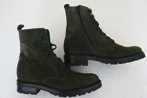 NEW FAB FRYE LACE-UP COMBAT SUEDE/NUBUCK BOOTS OIIVE GREEN SIZE 10