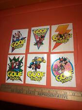 Vtg Rare Walt Disney Goof Troop Sticker Set Goofy Max Cereal Pop-up Premiums Lot