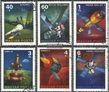 Hungría 3214A-3219A (edición completa) usado 1977 La exploración del espacio