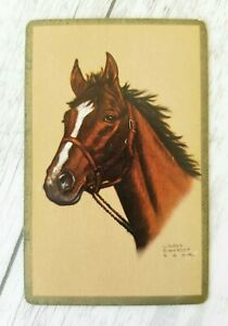 Swap Card, Genuine Vintage, Horse Art by Gladys Emerson Cook, Playing Card