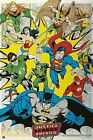 JUSTICE LEAGUE ~ RETRO PANELS ~ 24x36 COMIC ART POSTER ~ DC JLA America Batman