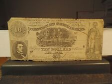 Sept 2, 1861 $10.00 Confederate Note 2nd Series #-C59