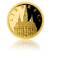 2018 New Zealand NIUE 0.5g 999.9 GOLD Proof Coin, Liberec Town Hall
