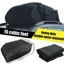 15 Cubic Feet Car Top Roof Bag Luggage Cargo Carrier Water Resistant Universal