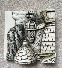 HARMONY KINGDOM Wimberley Tales Picturesque Relief Tile THE ROOFTOP NIB $35