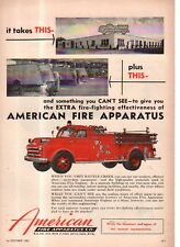 1953 Dodge Fire engine ad with American Fire Apparatus