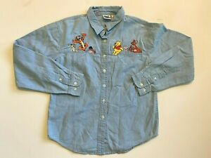 The Disney Catalog Winnie The Pooh and Friends Button Down Shirt XL