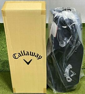 Callaway Fairway C Double Strap Carry Stand Golf Bag Black 4-Way Divider #84540