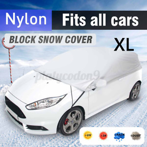 Car Half Body Sun Shade Waterproof Cover UV Rain Snow Resistant Protection XL US