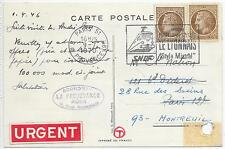FRANCE TRADE POST CARD 9/7/1970;SLOGAN RAILWAY CANCEL & REDIRECTED.