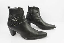 Bottines Boots HARCOURT Cuir Noir T 36 TBE