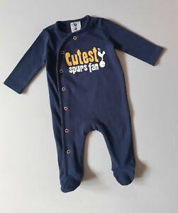 Tottenham Hotspur Football Club Baby Boys Girls All-in-One Sleepsuit  0-3 Months