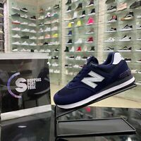 New Balance 574 Scarpe Sneakers Sportive Casual Blu Navy camoscio tela estate 21