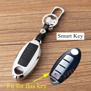 Key Bag Case Holder Shell Cover For X-Trail Teana Sylphy Tiida Murano 4 Buttons