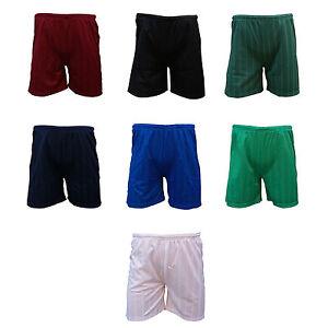 TRAX Boys Football Shorts Shadow Stripe Polyester Tie Cord Elasticated Waist