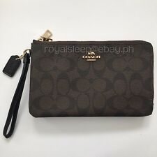 COACH Double Zip Signature PVC Large Wristlet **Brand New w/ Tag** Wallet