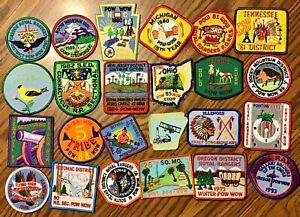 Vintage Royal Rangers Patch Lot of 24 Pow Wow 1 Ohio Staff ALL 1980s to 1993