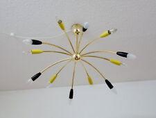 50er Jahre Sputnik Messing Decken Lampe Spinne Planetenleuchte12 flammig Ø 85 cm