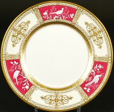 12 Minton Pâte-sur-Pâte Service Plates,gilded, hand-painted, artist signed, pate