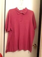 Ladies top, by Only Necessities, size large, Polo style GUC, Plum