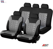 Vw Caddy Maxi Life Grey Black Light Fabric Full Car Seat Covers Set