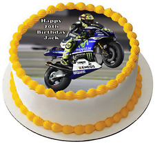 MOTORBIKE 7.5 PREMIUM Edible ICING Cake Topper CAN BE PERSONALISED D4