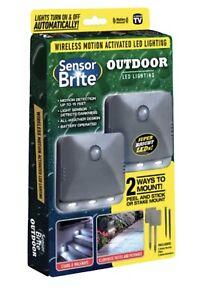 Sensor Brite Outdoor Wireless Motion Activated LED Pathway Light Waterproof-2 PK