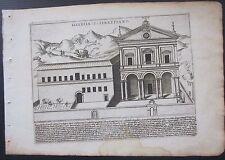 1628 ECCLESIA S SEBASTIANI Giacomo Lauro San Sebastiano fuori le mura Roma