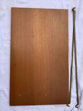 Ladderax Short Deep Teak Shelf 59cm x 35.5cm Wide With 2 Support Bars (27F)