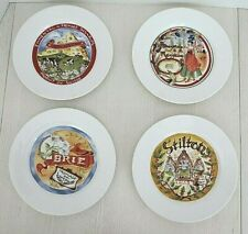 Set Of 4 Restoration Hardware Classic French Cheese Plates 7 1/2""