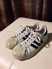 Adidas Superstar Unisex White Black Foundation Trainers Shoes Size UK 7