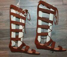 NEW Carlos Santana Kingston Brown Tall Gladiator Sandals Womens Size 8.5 M