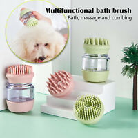 Soft Rubber Dog Bath Brush Comb Cleaning Massage Grooming Scrubber Cat Brush NEW