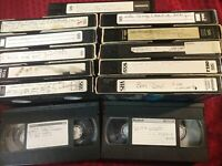 Lot of 13 prerecorded VHS tapes Music Concerts Selling as blanks As-is